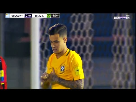 Philippe Coutinho vs Uruguay HD 720p (2018 World Cup Qualifiers) ( 23/03/2017) by V10 Comps