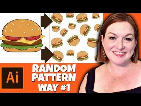 How To Create A Random Pattern In Adobe Illustrator 2019 - Seamless & Rotate Pattern  Illustrator