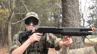 Double Eagle M56C Tri-Shot Shotgun Airsoft Review