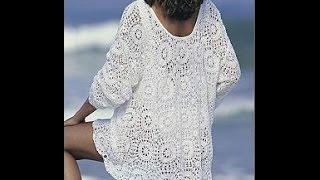 Вязаная Туника Крючком - 2019 / Knitted tunic Crocheted / Tunika Gehäkelte