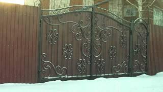 кованые ворота, забор. Ручная работа(, 2012-12-20T13:08:54.000Z)