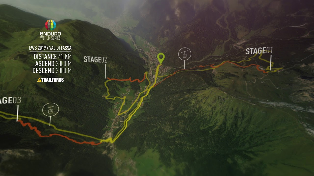 EWS Val Di Fassa Map - full course - YouTube