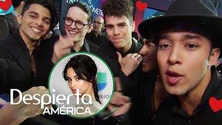 Los chicos de CNCO se quedan impactados con Camila Cabello en Latin GRAMMY