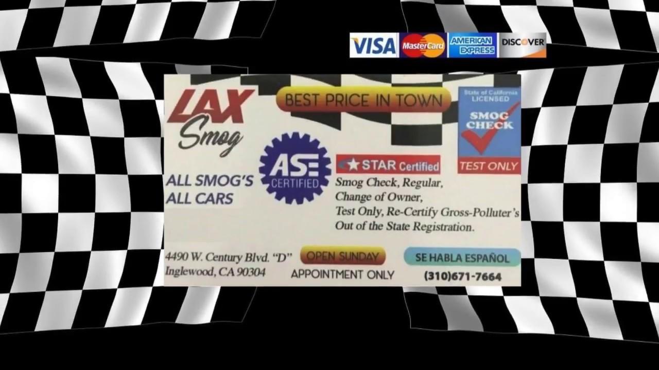 Dmv Smog Check >> Dmv Smog Check Inglewood Ca