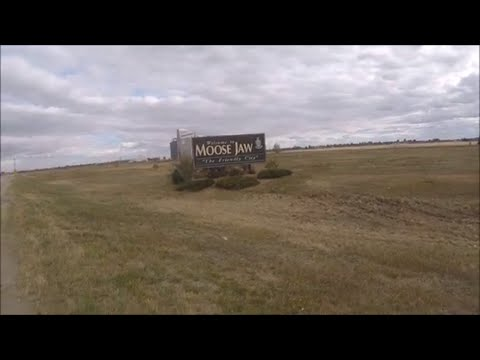 Going Downtown in Moose Jaw Saskatchewan, Canada in My Scamp travel Trailer