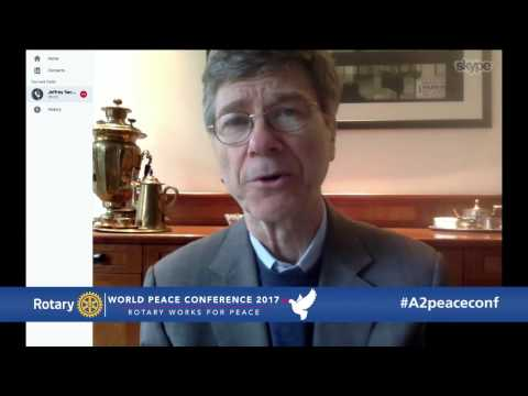 Professor Jeffrey Sachs, at the World Peace Conference 2017, Ann Arbor Michigan USA