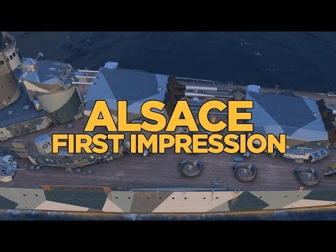 World of Warships - Alsace First Impression