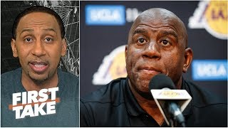 Download Magic Johnson 'feels betrayed by folks within the Lakers organization' - Stephen A. | First Take Mp3 and Videos