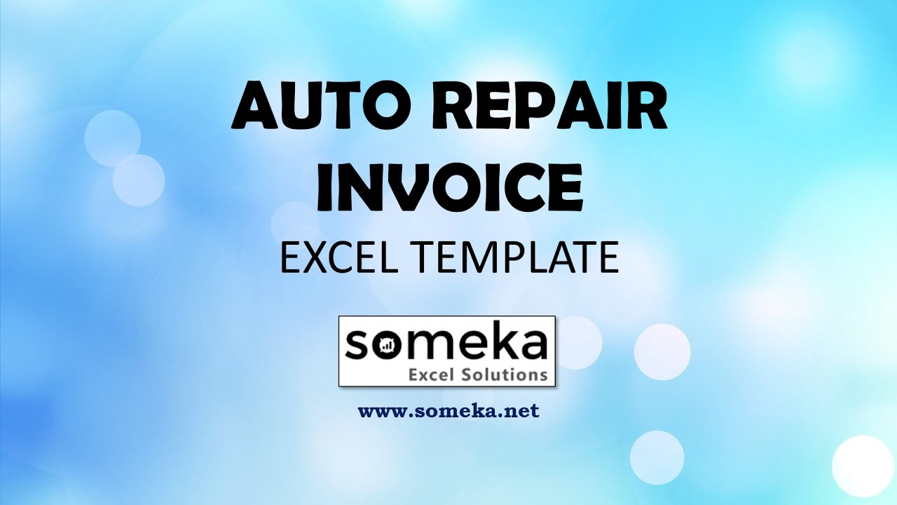 photograph about Free Printable Auto Repair Invoice Template named Automobile Fix Monthly bill - Cost-free and Printable Excel Template for Automobile Fix Stores
