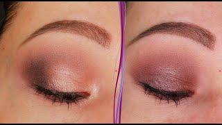Пыльный розовый макияж глаз в стиле смоки айс Пошаговый урок