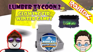 Roblox - Lumber Tycoon 2 - Winter Games Update Glowing Fir Tree