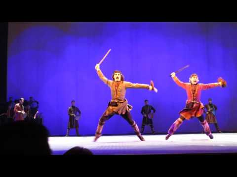 Georgian traditional folk dance -- swords ,swordsmen