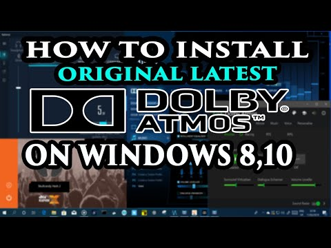 How To Install Dolby Atmos On Windows 10,10.1,8.1,8 In Pc/Laptop
