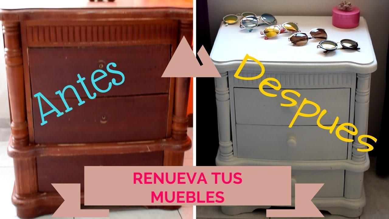 Pinta y renueva tus muebles viejos sin lijar nathy for Como restaurar un mueble vintage