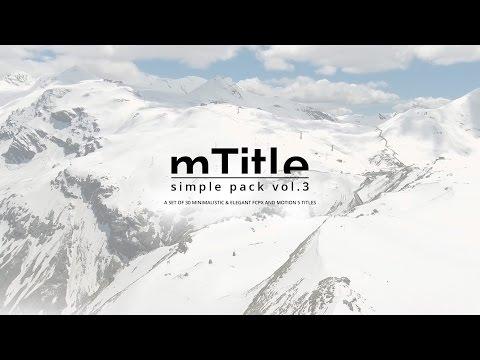 mTitle Simple Pack vol. 3 Plugin for Final Cut Pro X