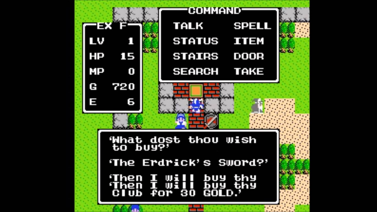 Fun With Cheats Get Rich Quick Super Weapons And More Dragon Warrior Nes Youtube