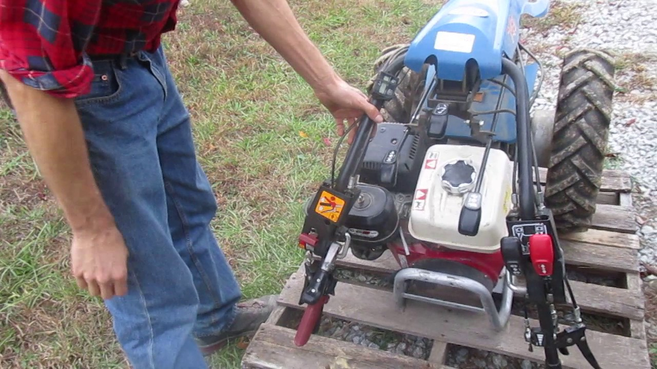 Instructions for shipping a walk-behind tractor to Earth Tools