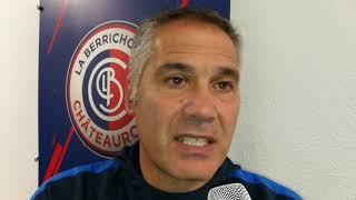 Réaction de Raffaele Novelli après l'élimination du Pau FC en Coupe de France à Châteauroux