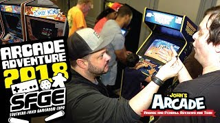 2018 Southern-Fried Gaming Expo Tour! All access. Amazing Arcade and Pinball games!