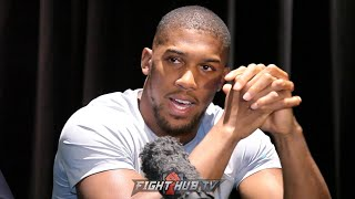 ANTHONY JOSHUA'S IMMEDIATE REACTION TO SHOCK KNOCK OUT LOSS TO ANDY RUIZ JR