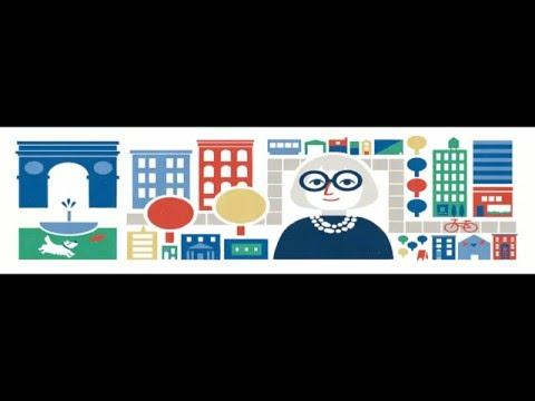 Jane Jacobs's 100th birthday - Google Doodle celebrating now - 제인 제이콥스