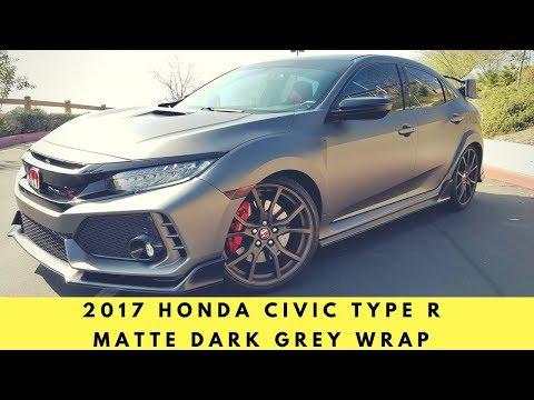 2017 Honda Civic Type R Wrapped in Matte Dark Grey