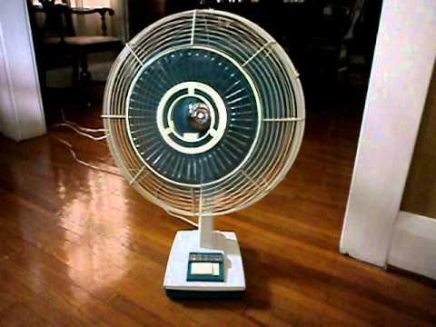 Sanyo 16 DYNAMIC WIDE Oscillating Fan  Late 1960s model