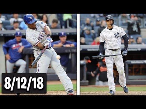 Texas Rangers vs New York Yankees Highlights || August 12, 2018