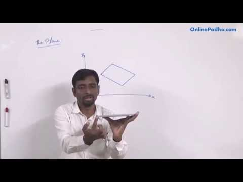 Three Dimensional Geometry Part 5 CBSE Class 12 (XII) Mathematics The Plane