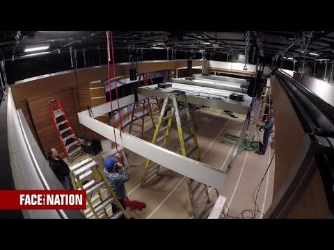 "Timelapse of the new ""Face the Nation"" studio construction"