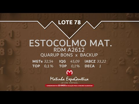 LOTE 78 MATINHA EXPOGENÉTICA 2021