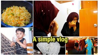 A simple vlog||vegetable rice||neer dosa||shopping||a day in my life||recipe included||lunch vlog||