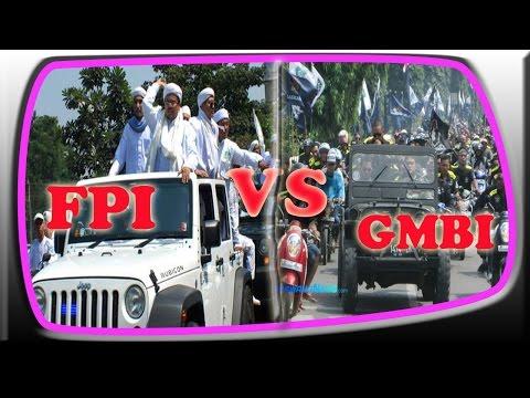 Video Detik Detik Bentrok Masa FPI VS GMBI