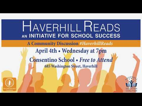 Haverhill Reads - April 4, 2018 @ Consentino Middle School