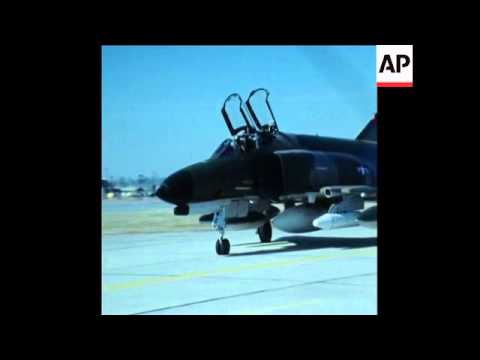 SYND 21 12 75 LAST US AIRCRAFT LEAVING AIRBASE AT UDORN, THAILAND