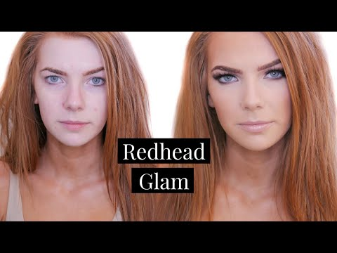 Makeup looks for blue eyes and red hair