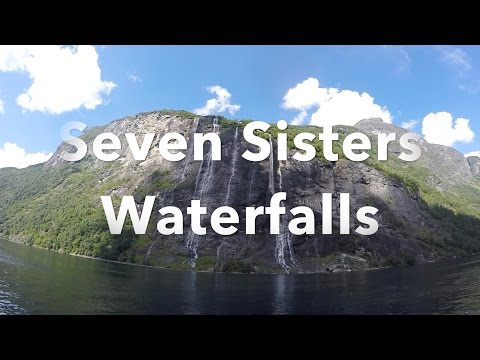 Seven Sisters Waterfall Geiranger Fjord Norway Travel Video