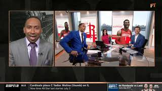 Stephen A. Smith reacts to 'Have mercy!' Are Rockets a better team with Westbrook?