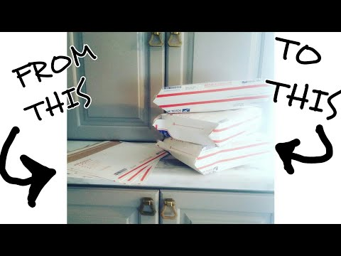 Shipping Hack | Folding A Flat Rate Envelope Into A Box Without Altering It