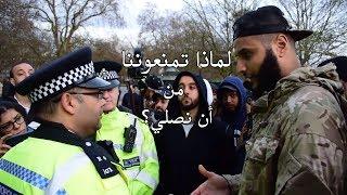 لا يمكنكم أن تصلوا! محمد حجاب يرد بقوة على رجال شرطة يمنعون المسلمين من الصلاة
