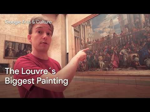 Discover the biggest painting of the Louvre Museum
