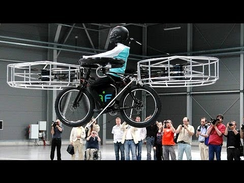 Flying electric bicycle invented in Czech Republic