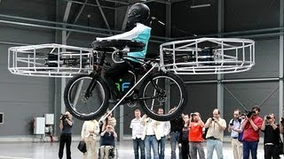 Flying electric bicycle invented in Czech Republic(In the Czech Republic three companies have teamed up to make a prototype of an electric bicycle capable of flying. Read more... For now, the flying bike is still ..., 2013-06-12T21:34:32.000Z)