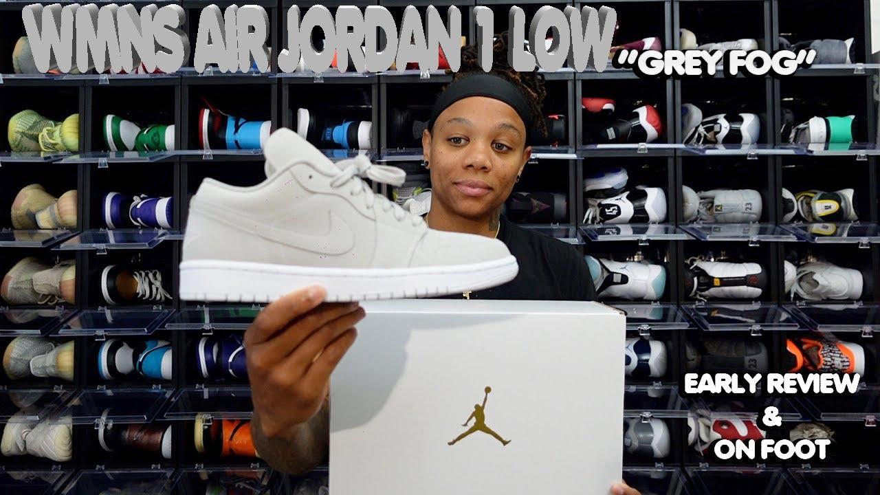 air jordan 1 low on feet women