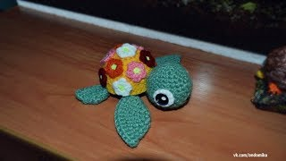 Амигуруми | Цветочная черепаха | Полимерная глина | Мастер-класс | Творчество