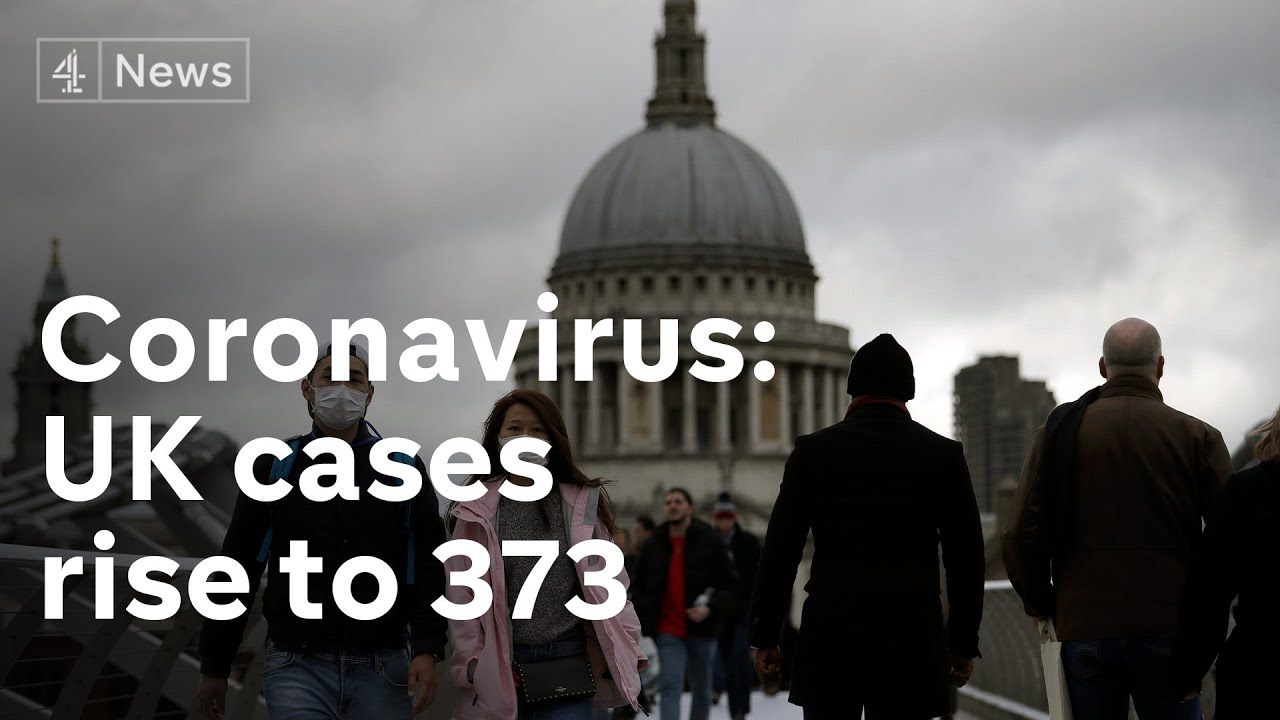 Coronavirus: UK cases rise to 373 as sixth person dies