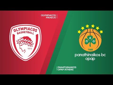 Olympiacos Piraeus - Panathinaikos OPAP Athens Highlights | Turkish Airlines EuroLeague, RS Round 24