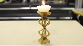 How to Make a Wooden Candle Holder with a Scroll Saw