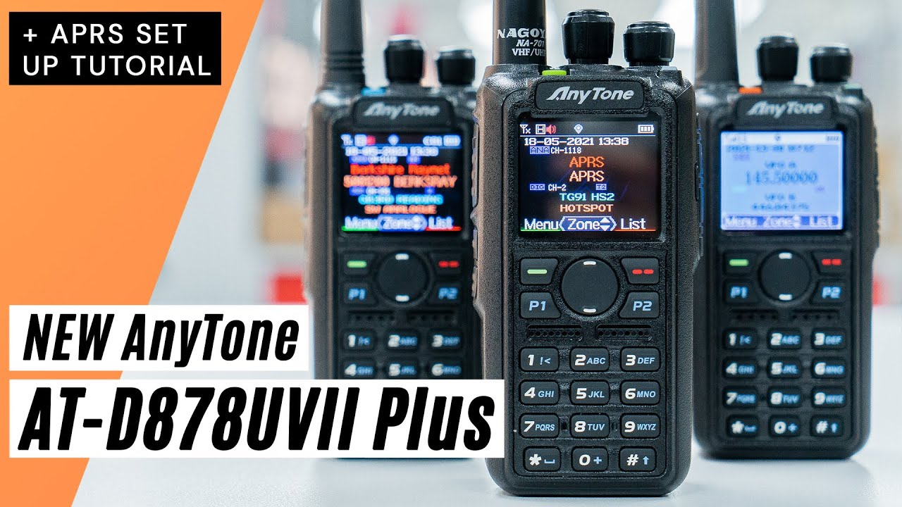 Download NEW AnyTone AT-D878UVII Plus Digital Handheld Radio