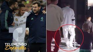 Filtran a Eden Hazard en muletas Se confirma lo peor en el Real Madrid  Telemundo Deportes